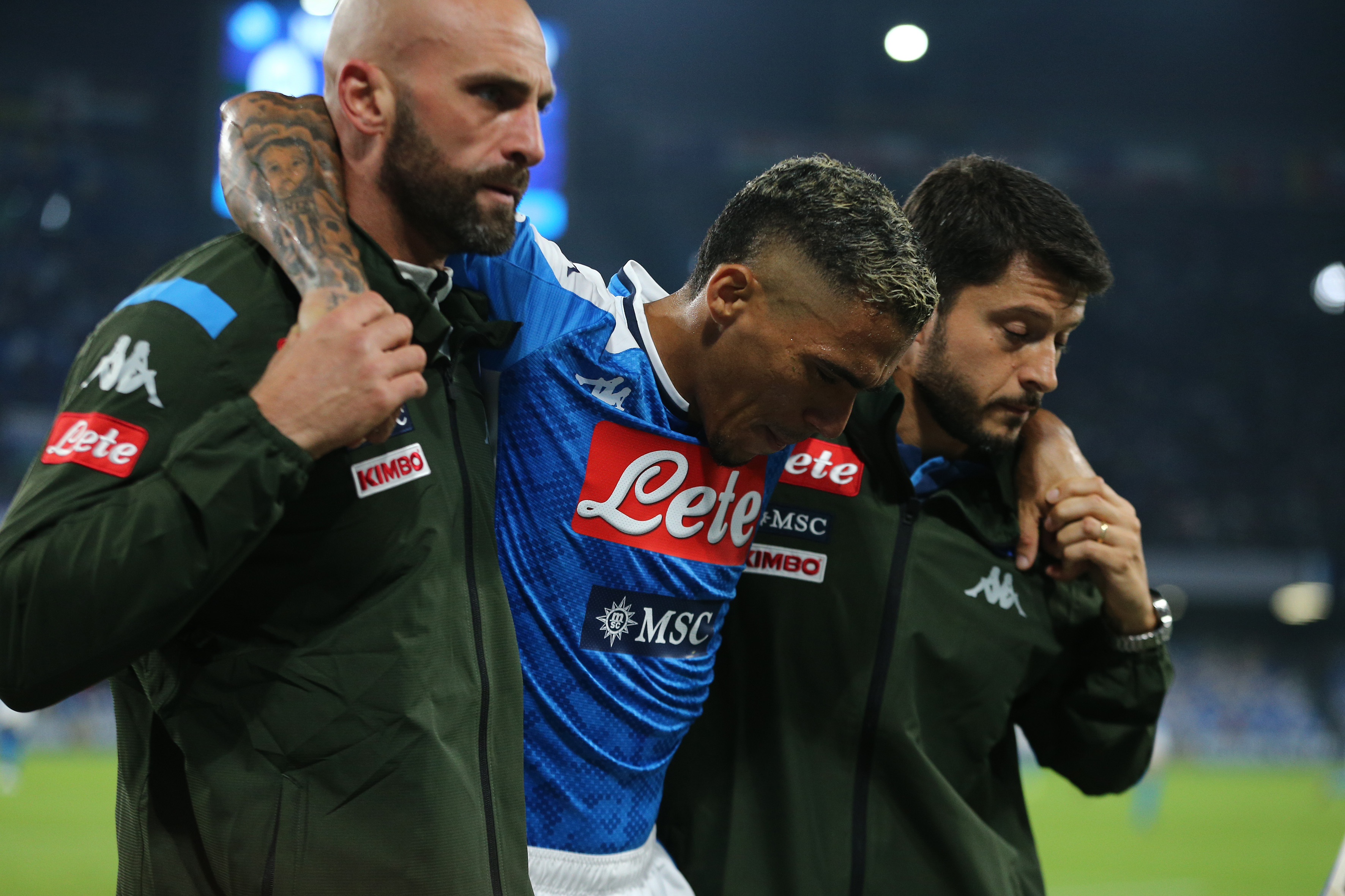 Napoli midfielder Allan out of action with knee injury against Atalanta