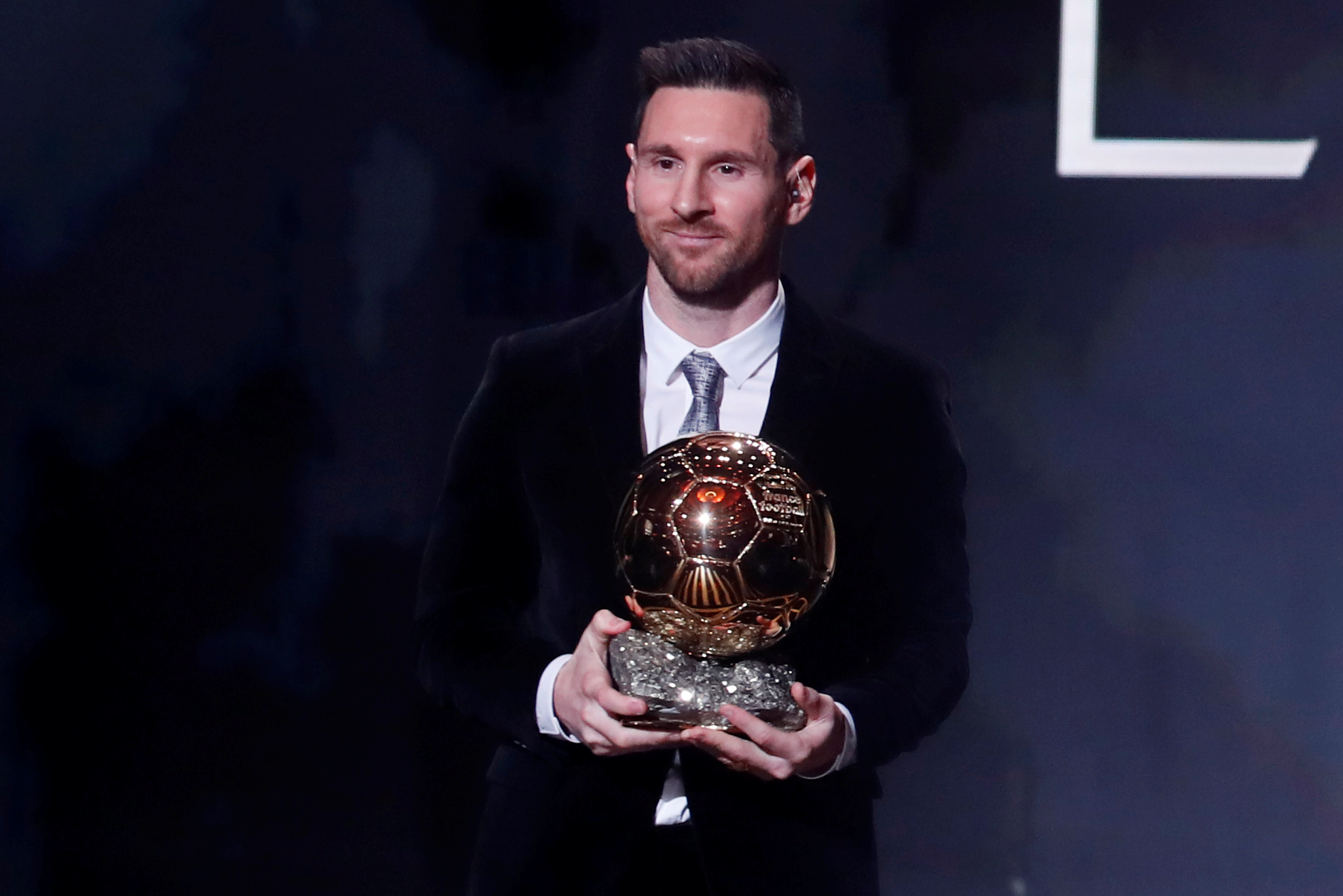 Barcelona prodigy Lionel Messi wins record sixth men's Ballon d'Or award
