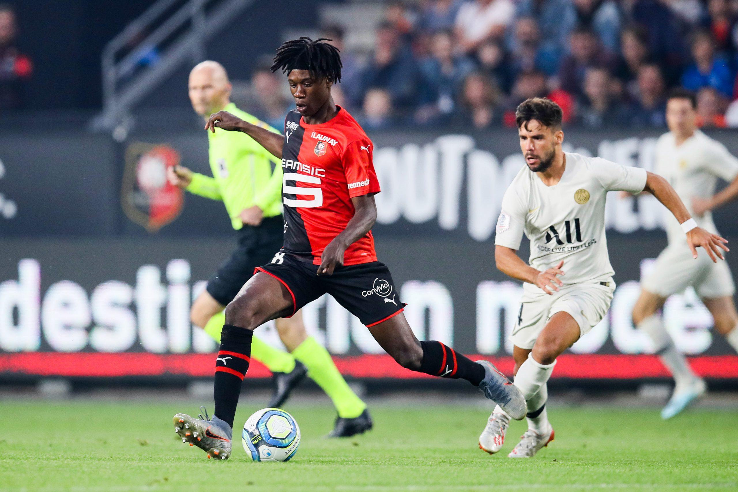 Rennes midfielder Eduardo Camavinga cools Real Madrid talk