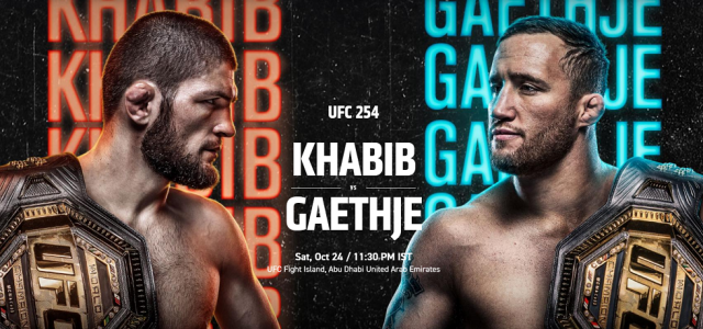 UFC 254 Date, Time, Location, PPV When Is Khabib vs Gaethje