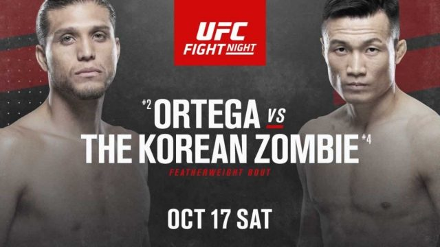 UFC Fight Night 180 Date, Time, Location, PPV When Is Ortega vs The Korean Zombie