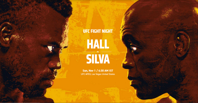 UFC Fight Night 181 Date, Time, Location, PPV When Is Silva vs Hall