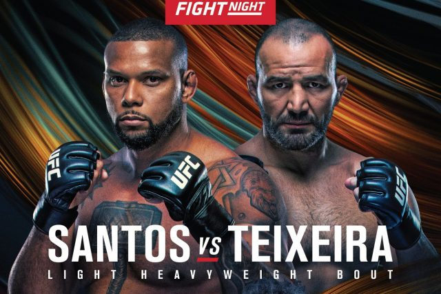 UFC Fight Night 182 Date, Time, Location, PPV When Is Santos vs Teixeira