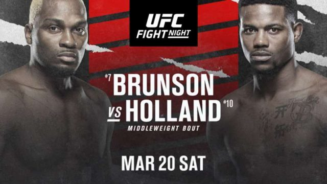 UFC on ESPN 21 Date, Time, Location, PPV When Is Brunson vs. Holland